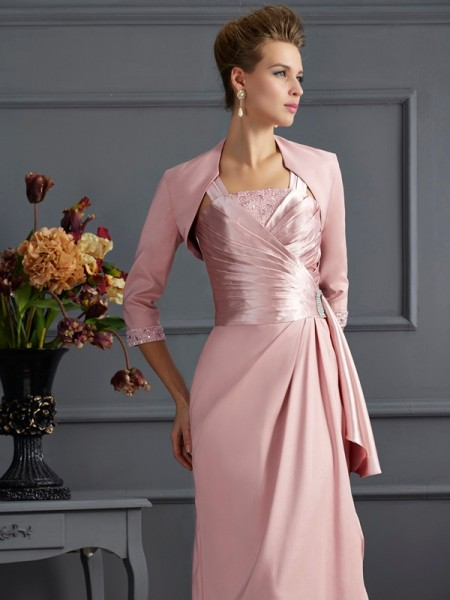 Stretch-Satin 3/4 Ärmel Special Occasion Wrap